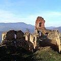Ruiny zamku Zborov i Magura Stebnicka #góry #beskidy #BeskidNiski #PogórzeOndawskie #MaguraStebnicka #ZamekZborov