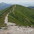 Tatry- z Wołowca w stronę Rakonia #Wołowiec #Rakoń #Tatry #góry #TatryZachodnie #GórskieSzlaki #Lipiec2013