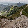 Tatry- z Wołowca w stronę Rakonia #góry #Lipiec2013 #Rakoń #SzlakGórski #Tatry