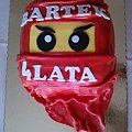 Ninja go czerwony #ninja #NinjaGo #SztukiWalki #KlockiLego #lego #torty #TprtyDlaDzieci