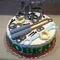 Tort dla kolegi #TortyOkazjonalne #tort #narzędzia #torty #urodziny #robert