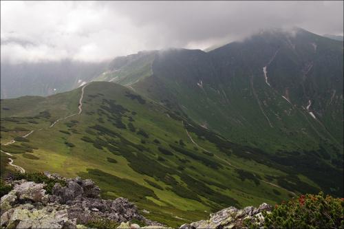 Starobociański w chmurach #TatryZachodnie #Tatry #góry #Lipiec2014