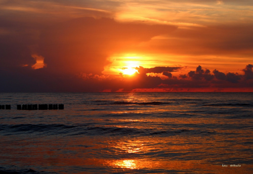 zachód słońca - Sarbinowo - 15.08.2014 **** ulub. lidiaizabela **** #plaża #Sarbinowo #zachód