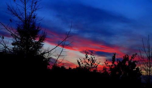 11 listopada - niebo po zachodzie słońca