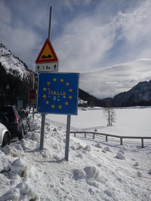 Passo Pramolo - już Włochy :) #Alpy #Austria #Narty #Nassfeld