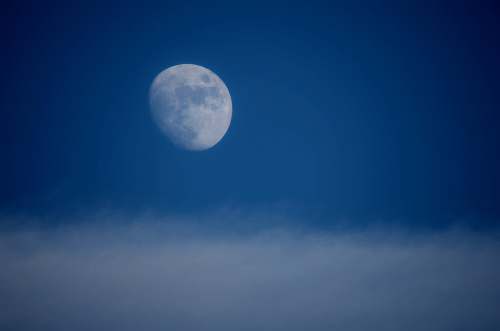 Spójrz ! Gdzie ! Tam , w górę ! - to chyba Księżyc ! #Księżyc