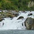 Rheinfall wodospad w miejscowości Neuhausen ma 150m szerokości i 23m wysokości #przyroda