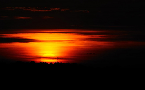 zachód słońca -bagno nietlickie