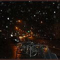 nadbrzeże nocą w deszczu #noc #port